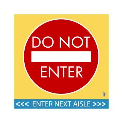 "HealthShield™ - Sticker Decal: ""Do Not Enter, Enter Next Aisle"""