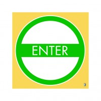 "HealthShield™ - Sticker Decal: ""Enter"""