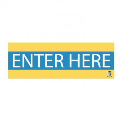 """HealthShield™ - Sticker Decal: """"Enter Here"""""""