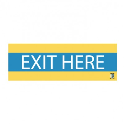 "HealthShield™ - Sticker Decal: ""Exit Here"""