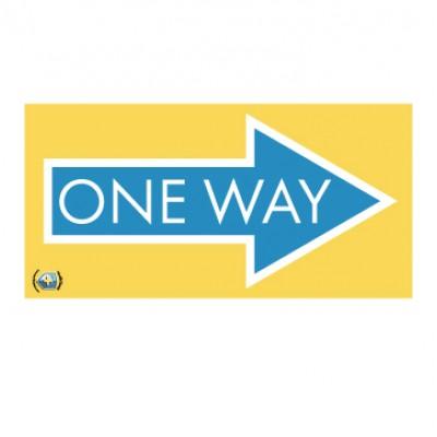 """HealthShield™ - Sticker Decal: """"One Way"""""""