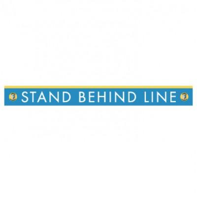 """HealthShield™ - Sticker Decal: """"Stand Behind Line"""""""