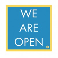 "HealthShield™ - Sticker Decal: ""We Are Open"""