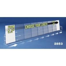 "1-Tier Acrylic Card Rack  (Custom Width: 12""-24"")"